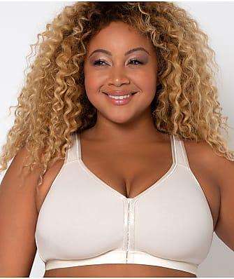 Curvy Couture Cotton Luxe Front & Back Close Wire-Free Bra