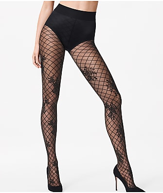Wolford Helena Floral Net Tights
