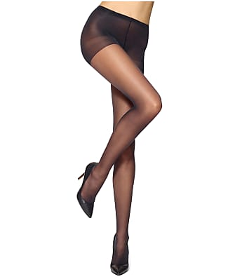 70a6dcff4 HUE Run Resistance Sheer Control Top Pantyhose
