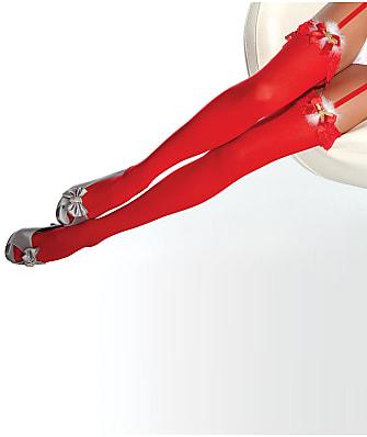 Coquette Santa Thigh High Stockings
