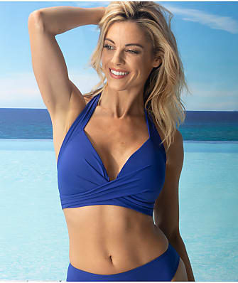 Pour Moi Soleil Solid Wire-Free Halter Bikini Top