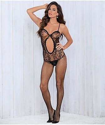 Escante Crotchless Bow Body Stocking