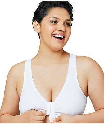 Glamorise CompleteComfort Front-Close Cotton T-Back Wire-Free Bra
