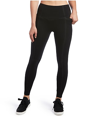 HUE Plus Size Hold It High-Waist Cotton Leggings