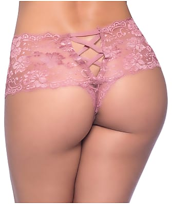 Oh La La Cheri Plus Size Goodnight Kiss Crotchless Boyshort