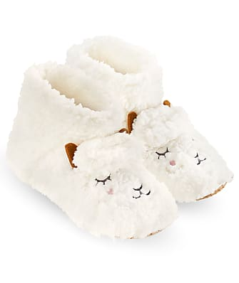 HUE Plush Sheep Bootie Slipper Socks