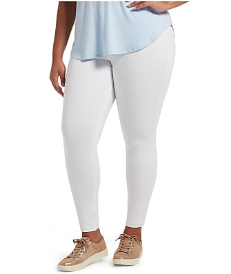 HUE Plus Size High-Waist Denim Leggings