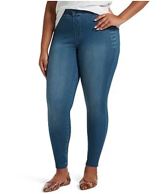 HUE Plus Size High-Waist Denim Leggings