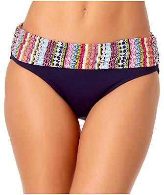 Anne Cole Signature Jet Set Stripe Fold-Over Bikini Bottom