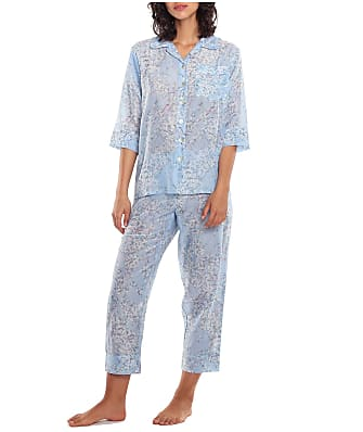 Papinelle Cherry Blossom Woven Cropped Pajama Set