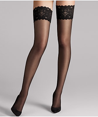 1b4d4cb1316 Wolford Satin Touch 20 Denier Evening Thigh Highs