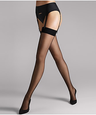 Wolford Individual 10 Denier Thigh High Stockings