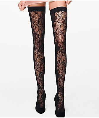 Wolford Blossom Thigh Highs