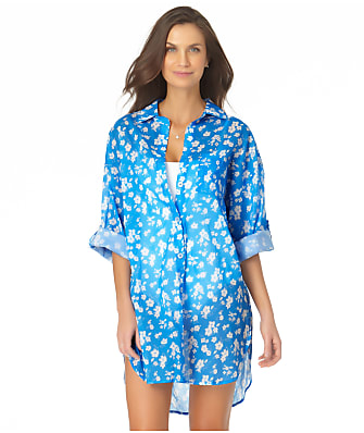 Anne Cole Signature Baby Bloom Boyfriend Shirt Cover-Up
