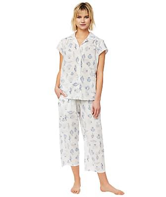 The Cat's Pajamas Sanibel Island Luxe Pima Woven Capri Pajama Set