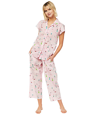 The Cat's Pajamas Promenade Luxe Pima Woven Capri Pajama Set
