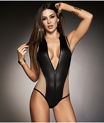 Mapalé Zip-Up Color Block Bodysuit