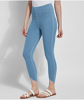 Lyssé Medium Control Lynette Scallop Denim Leggings