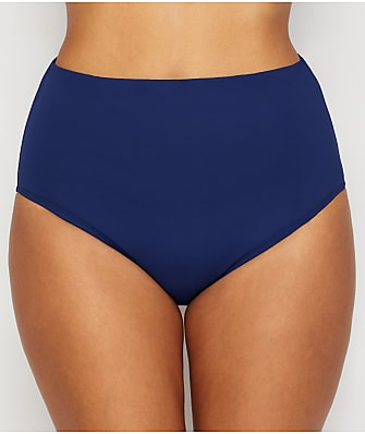 24th & Ocean Solid High-Waist Shaping Bikini Bottom