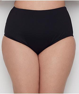 24th & Ocean Plus Size Solids High-Waist Bikini Bottom