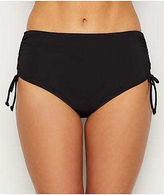 24th & Ocean Solid Adjustable Side Tie Shaping Bikini Bottom