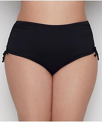 24th & Ocean Plus Size Solid Adjustable Side Tie Smooth Bikini Bottom