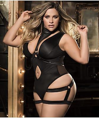 Mapalé Plus Size Harness Bodysuit