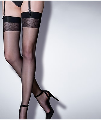 Pour Moi Bliss Sheer Geo Thigh High Stockings