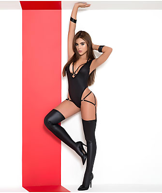 Mapalé Bodysuit, Open Cup Bra & Garter Panty Set