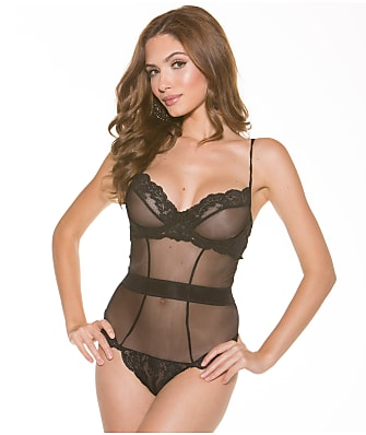 Shirley of Hollywood Lace Glistenette Teddy