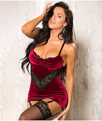 Shirley of Hollywood Supreme Lux Velvet Chemise Set