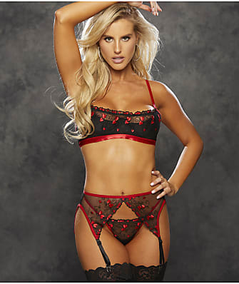 Shirley of Hollywood Mini Hearts Bra & Panty Set