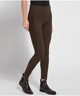 Lyssé Axel Medium Control Ponte Suede Leggings