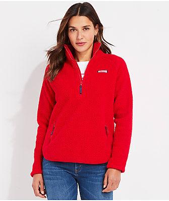 Vineyard Vines Sherpa Half-Zip Pullover