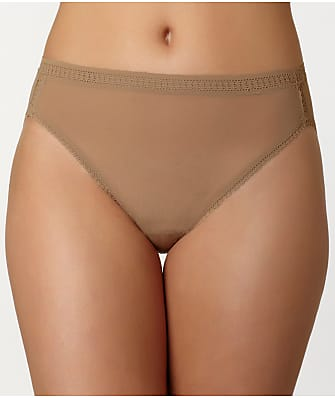 OnGossamer Plus Size Gossamer Mesh Hi-Cut Brief