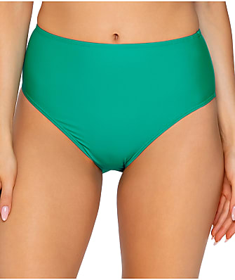 Sunsets Viridian High-Waist Swim Bottom