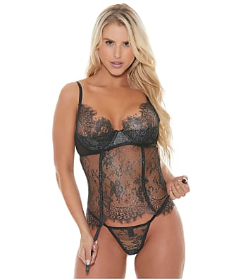 Shirley of Hollywood Shine Lace Bustier Set