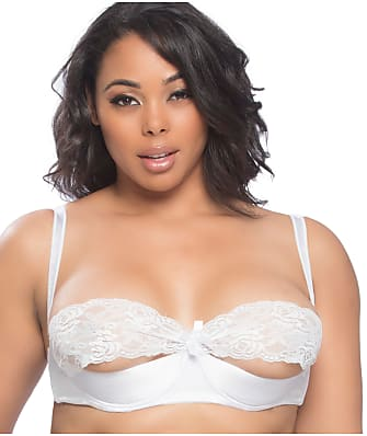 Oh Là Là Chéri   Plus Size Raquel Satin & Lace Shelf Bra