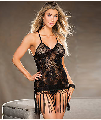 Shirley of Hollywood Fringe Trim Lace Chemise Set