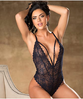 Shirley of Hollywood Lace Plunge Teddy