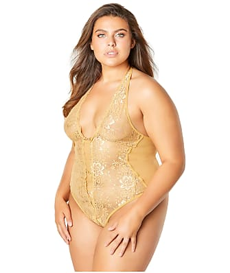 Oh La La Cheri Plus Size Lace Crotchless Teddy