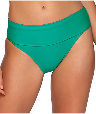 Sunsets Viridian High-Waist Bikini Bottom