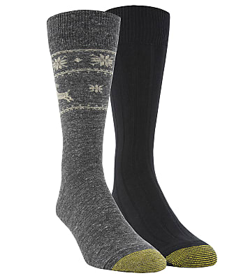Gold Toe Deer Border Dress Socks 2-Pack