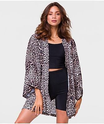 Onzie Freedom Woven Leopard Kimono