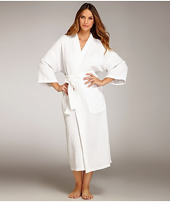 Monarch Cypress Waffle Cotton 3/4 Sleeve Robe
