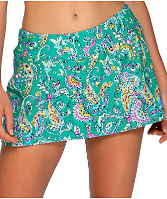 Sunsets Paradise Paisley Sporty Skirted Bikini Bottom