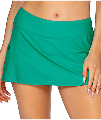 Sunsets Viridian Sporty Skirted Bikini Bottom