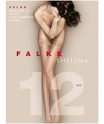 Falke Shelina 12 Denier Shimmer Stay-Up Thigh Highs