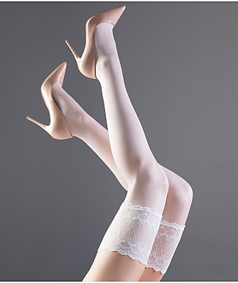 Falke Pure Shine Stay-Up Thigh Highs