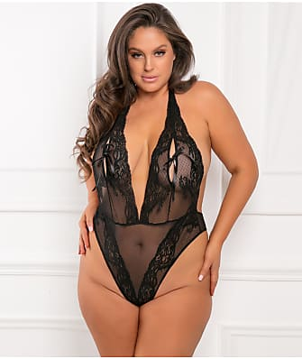 Rene Rofe Plus Size Peep Star Teddy